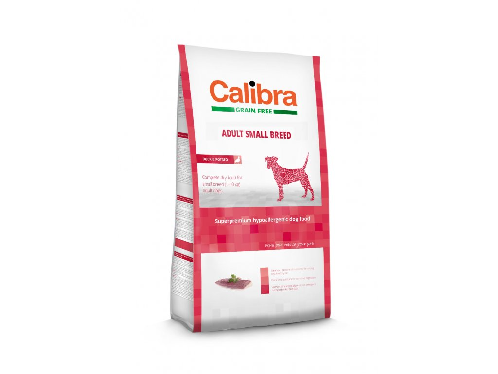 Calibra Grain Free Adult Small Breed / Duck & Potato 7kg