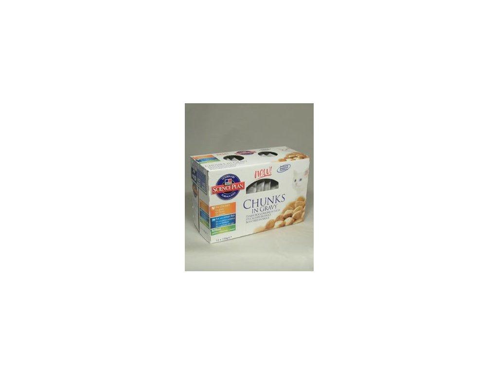 Hills Feline KAPSA Multipack Kitten Chicken, Ocean Fish12x100g