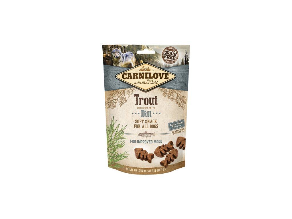 carnilove snacks dog trout and dill 200g product large