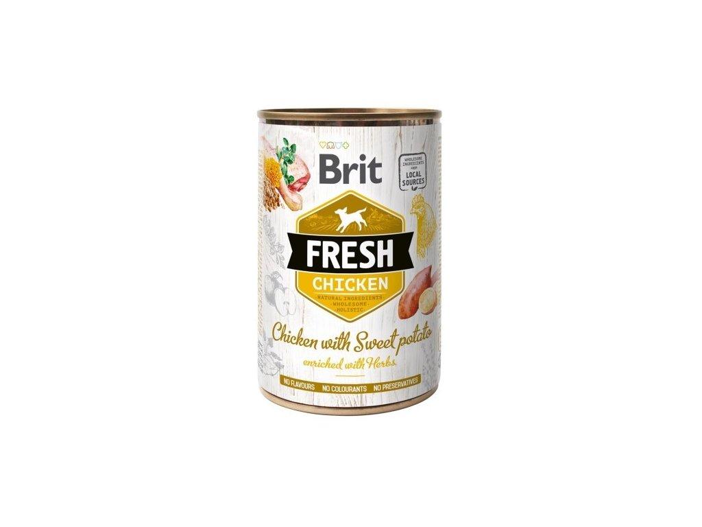 Brit Dog Fresh konzerva Chicken with Sweet Potato 400g