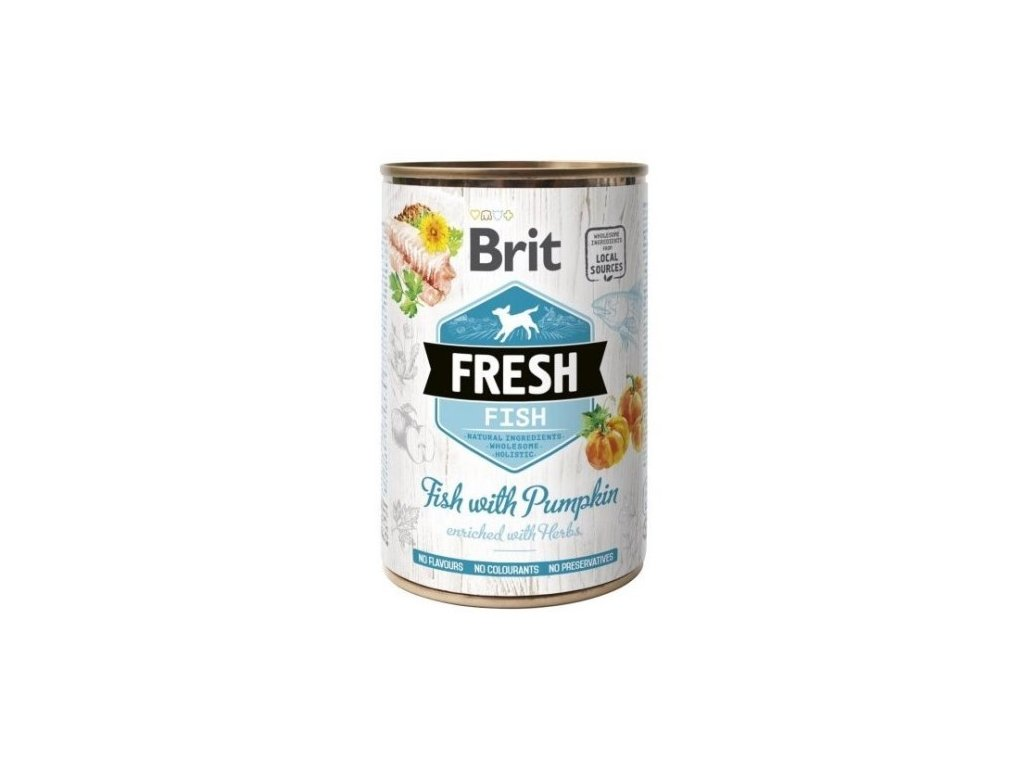 Brit Dog Fresh konzerva Fish with Pumpkin 400g