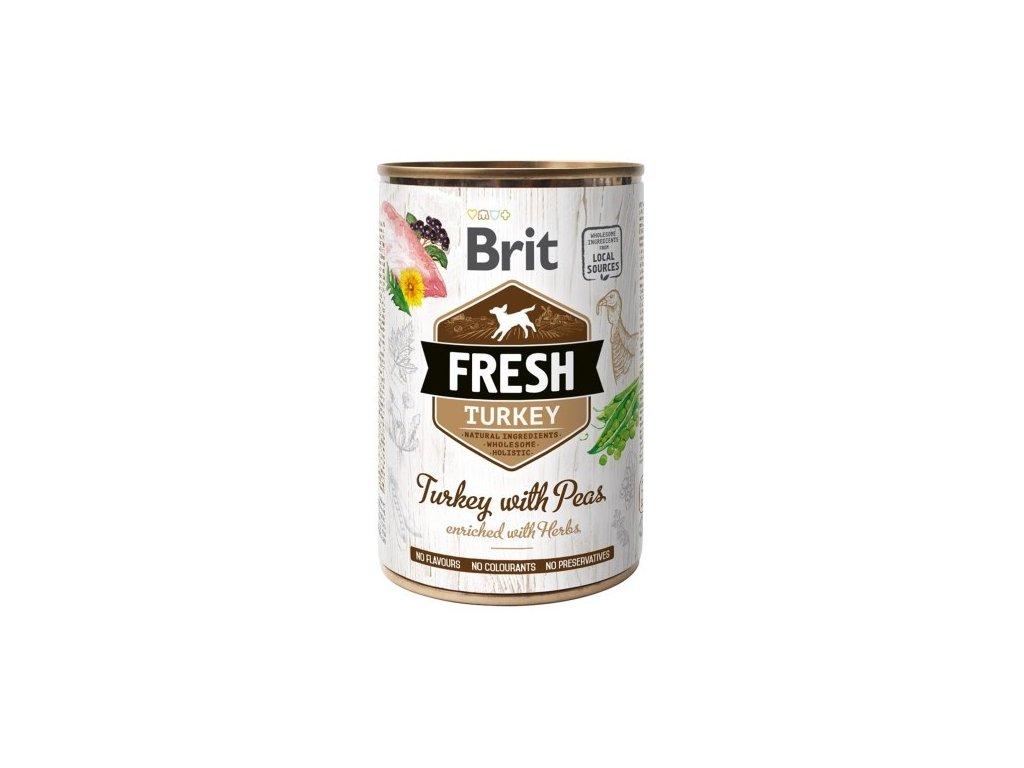 Brit Dog Fresh konzerva Turkey with Peas 400g