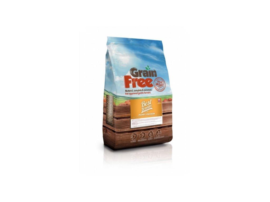 best breeder grain free puppy chicken with sweet potato carrots peas 2 kg