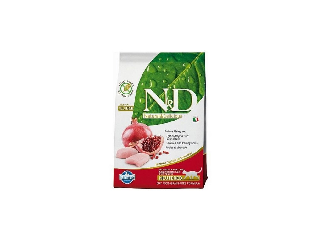 nd grain free cat neutered chicken and pomegranate