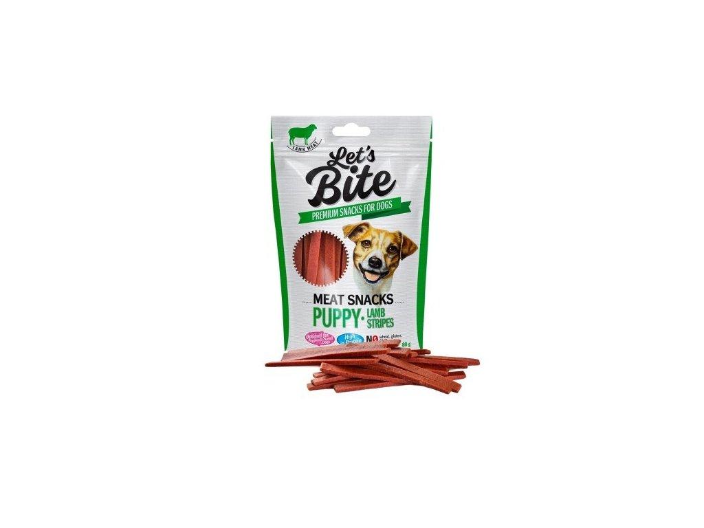Pamlsky Brit Let's Bite Meat Puppy Lamb Stripes 80 g