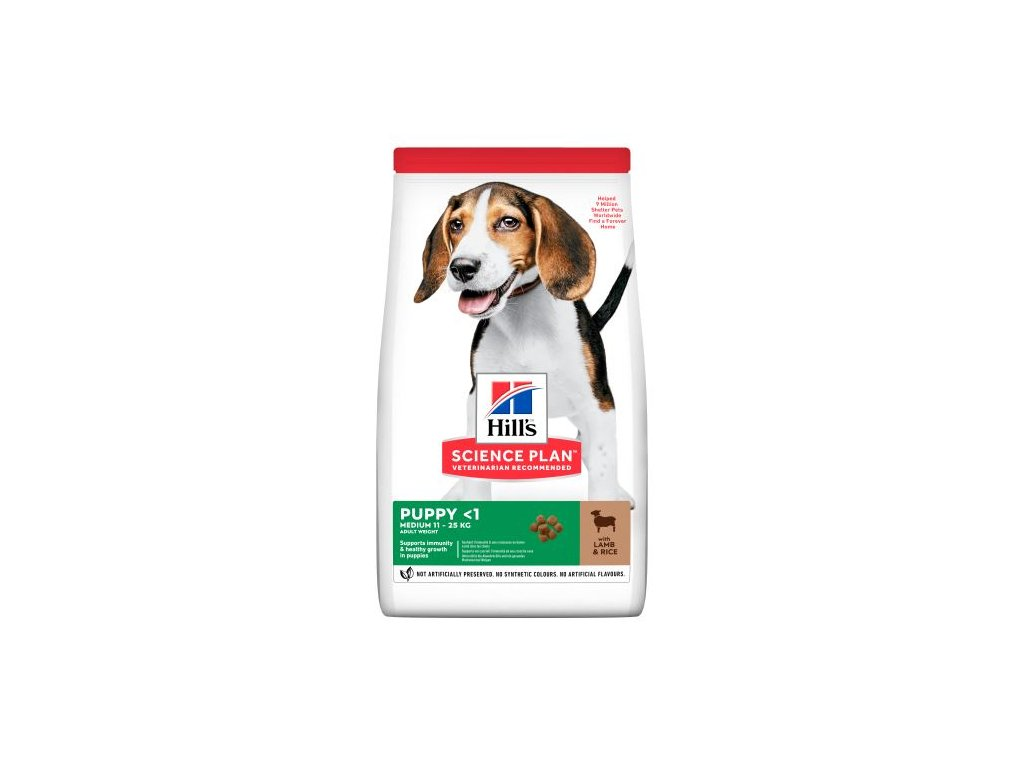 hills canine sp puppy medium lamb rice 18kg