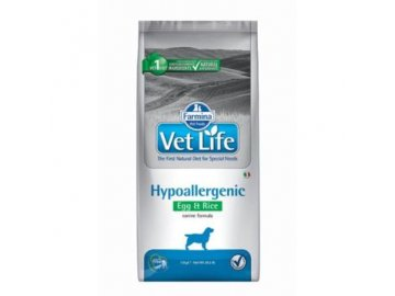 vet life natural dog hypo egg rice 12kg