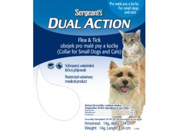 Sergeant's Dual Action antiparazitní obojek pro malé psy a kočky 34 cm