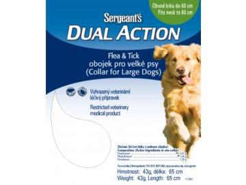 Sergeant's Dual Action antiparazitní obojek pro velké psy 65 cm