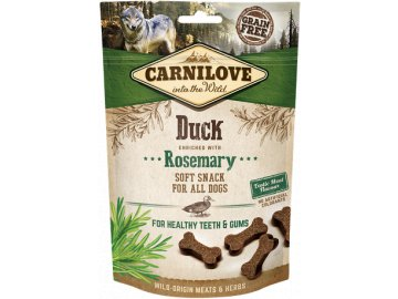 carnilove snacks dog duck and rosemarry 200g product large