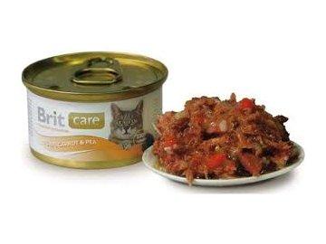 Brit Care Cat konzerva kuřecí prsa a sýr 80g