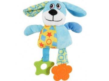 hracka pes dog color plys modra 22cm zolux