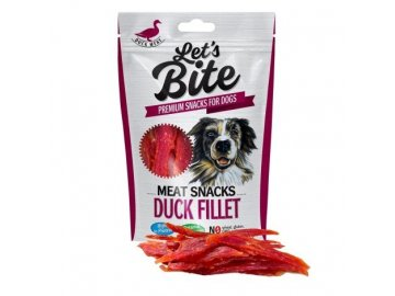 Pamlsky Brit Let's Bite Meat Snacks Duck Fillet 300g