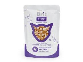 Brit Care Cat kapsa Chicken & Cheese Pouch Kitten 80g