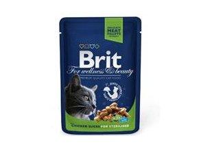 Brit Premium Cat kapsa Chicken Slices for Sterilised 100g