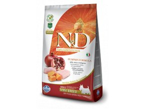 N&D GF Pumpkin DOG Adult Mini Chicken & Pomegranate 800g