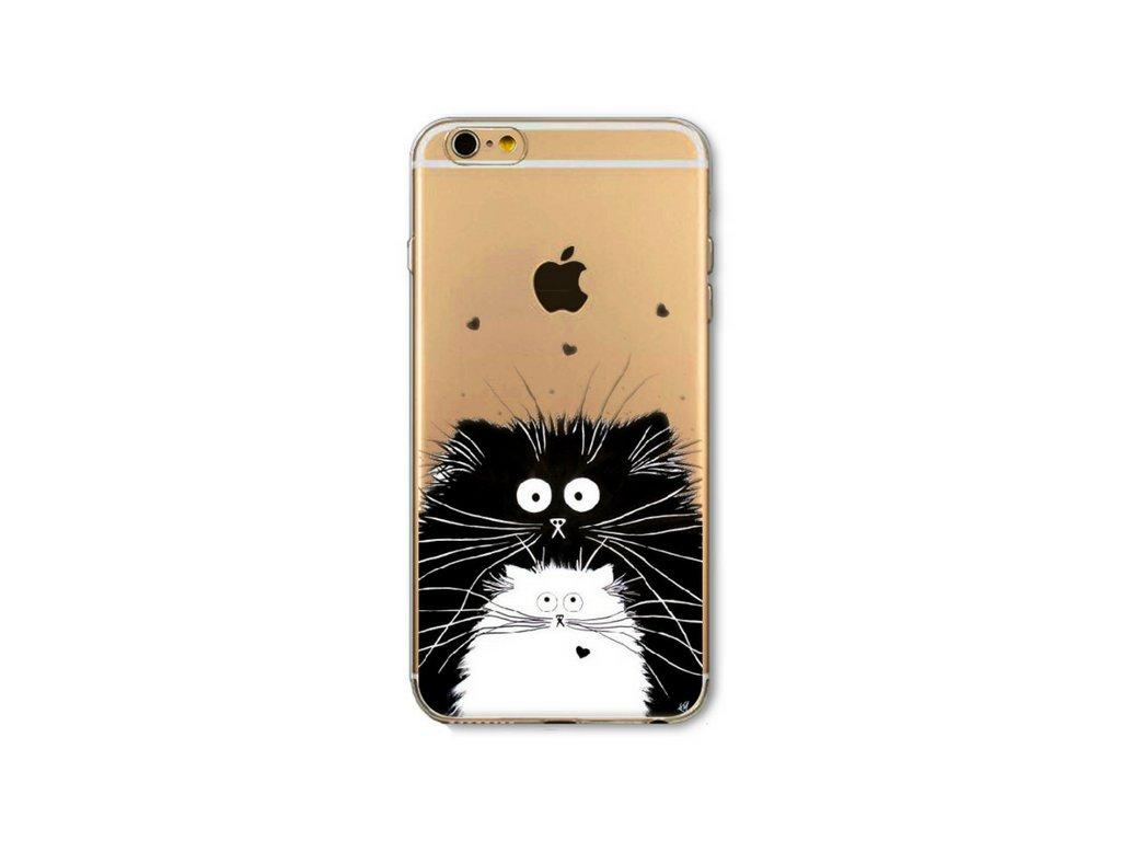 Tenký silikonový kryt CUTE CAT - iPhone 5 5s 5SE - Two cats ... aa4f367fec7