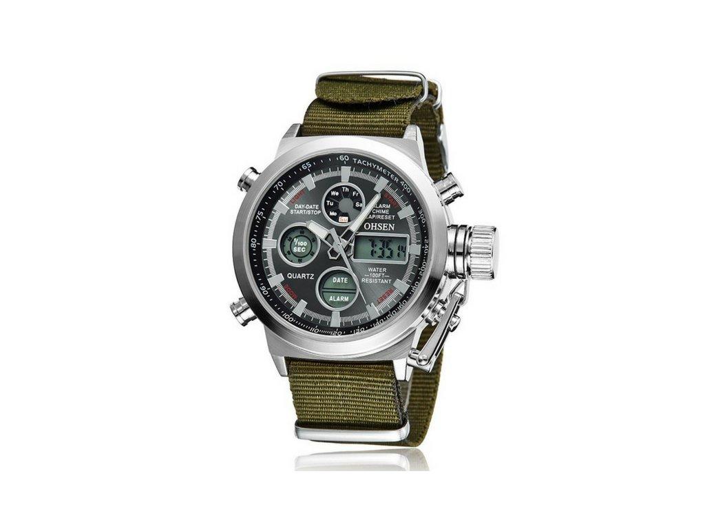 Pánské hodinky Ohsen SPORT - Green+black - vsevakci.cz - Poštovné ... 0c4eb72d4f