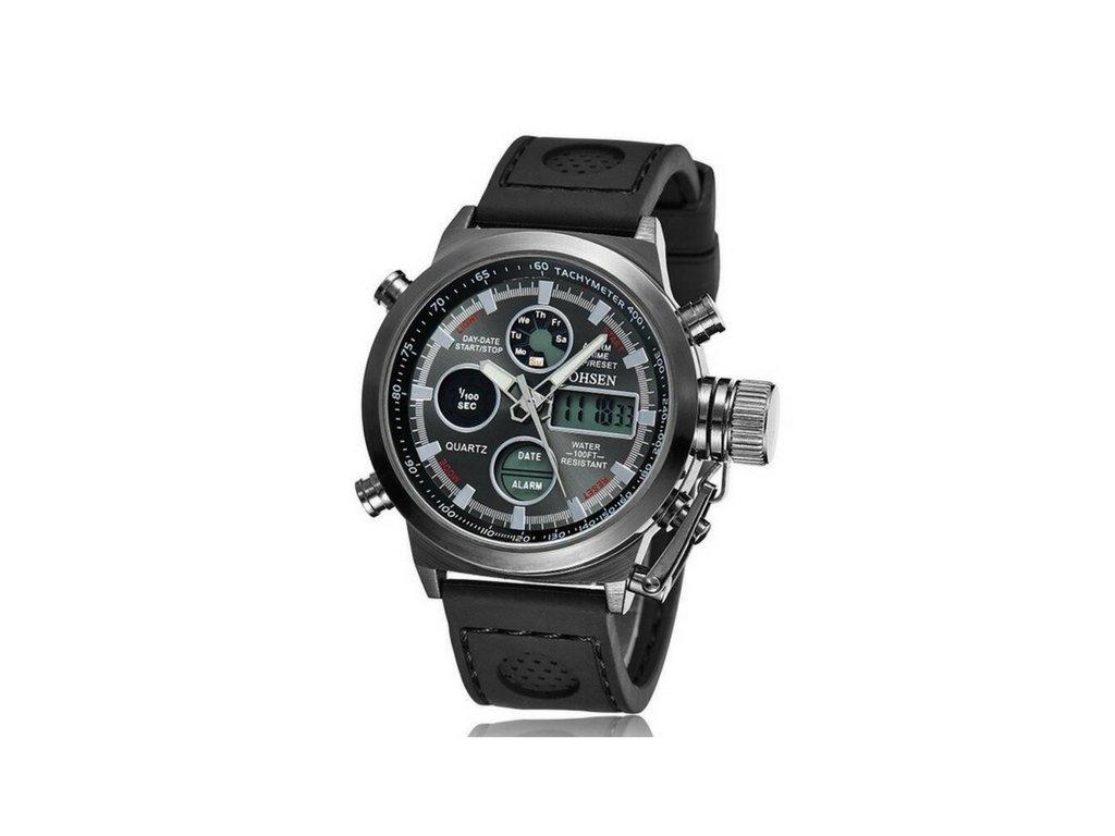 Pánské hodinky Ohsen SPORT - Black+black - vsevakci.cz - Poštovné ... 4a2e6ad28c