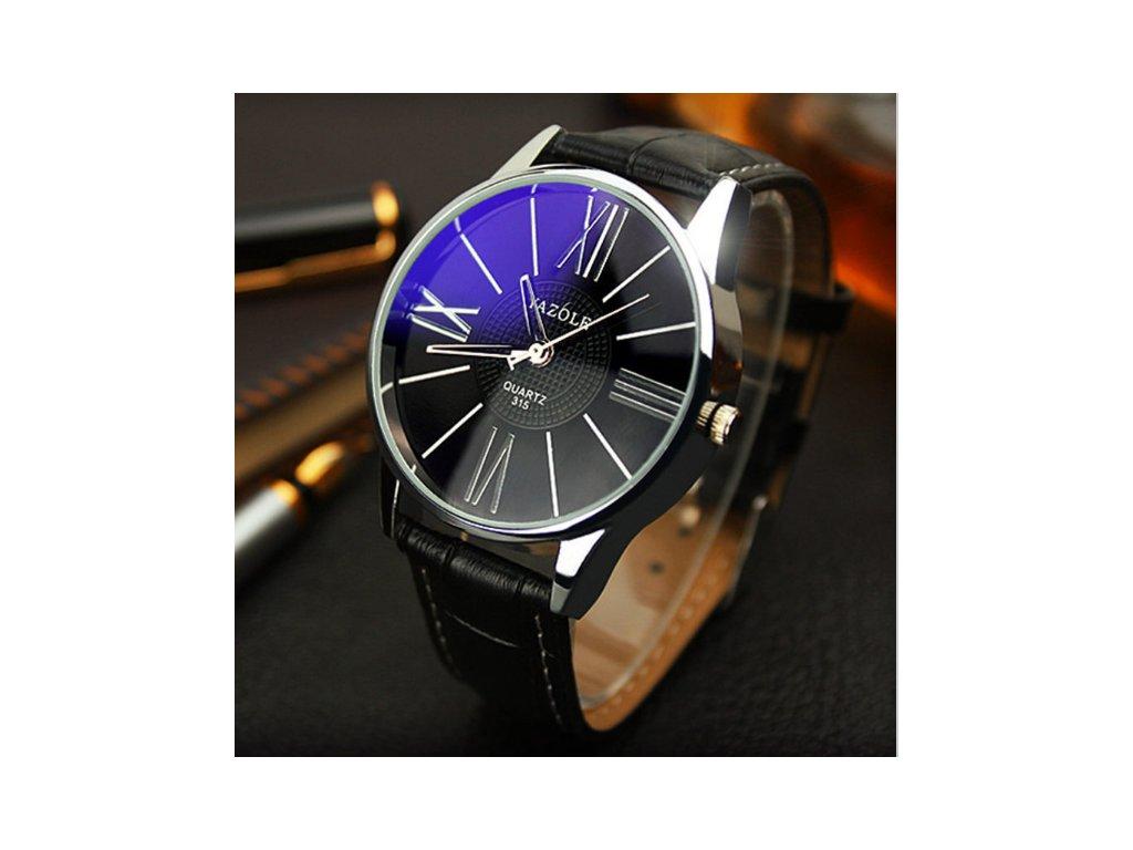 839b023eb Elegantní pánské hodinky YAZOLE tmavé - vsevakci.cz - Poštovné ...