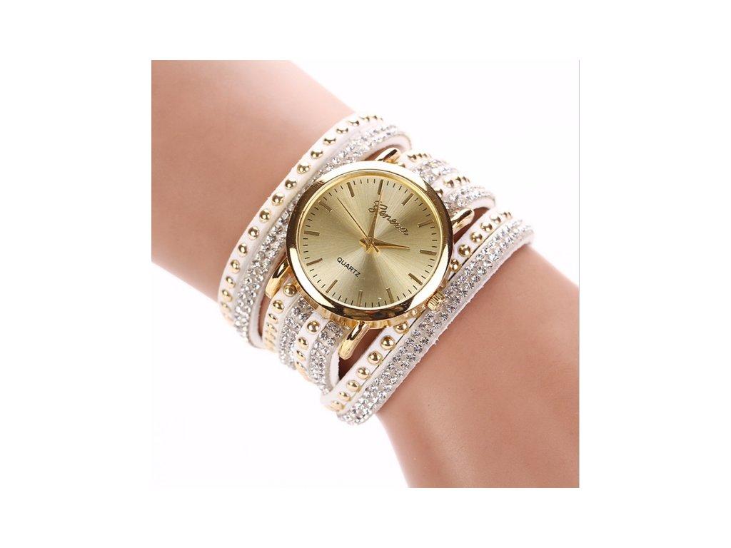 Dámské hodinky Geneva bílé - vsevakci.cz - Poštovné zdarma na ... e4d4bdab939
