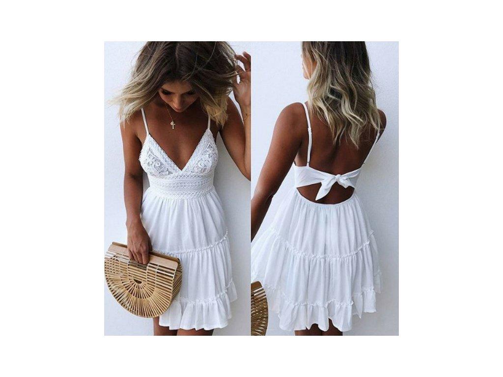 Romantické letní bílé šaty s ramínky - vsevakci.cz - Poštovné zdarma ... 4faf23a41d4