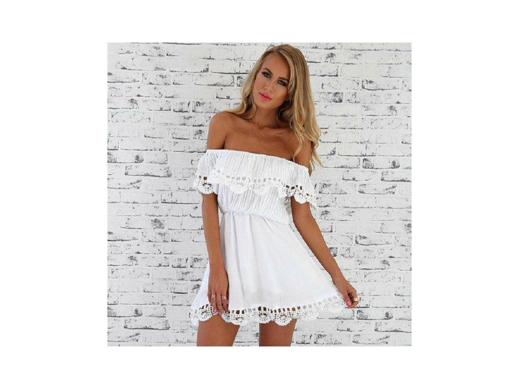 Letní šaty ve stylu boho - bílé - vsevakci.cz - Poštovné zdarma na ... ff3b5e0d71