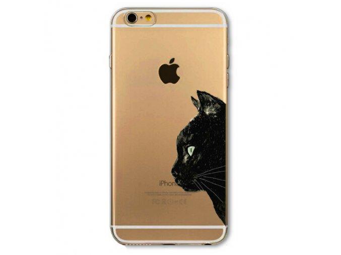 Tenký silikonový kryt CUTE CAT - iPhone 5/5s/5SE - Cat profile