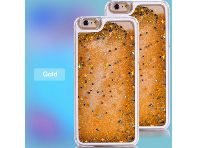 Kryt na iPhone 5/5S GLITTER - Gold