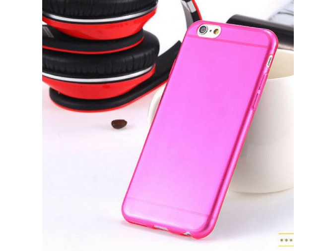Silikonový kryt i6/6s clear - Thin hot pink