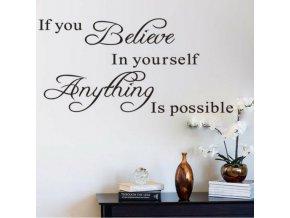 Samolepka na zeď - Motivace