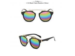 Sluneční brýle FEMININO - černé/duhové