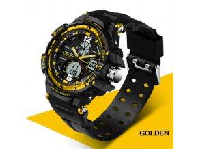 Sportovní pánské hodinky VANTAGE - Golden