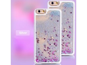 Kryt na iPhone 5/5S GLITTER - Silver