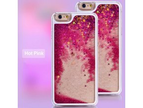 Kryt na iPhone 6/6S GLITTER - Hot pink