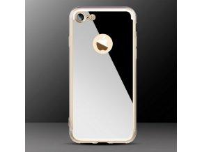 Luxusní kryt na iPhone 7 - MIRROR - Silver