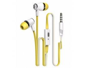 Sluchátka s plochým kabelem BASIC - Žtuté
