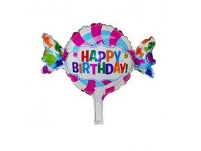 Fóliový balónek - Bonbon HAPPY BIRTHDAY