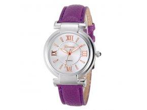 Dámské hodinky ROMAN NUMERALS - Fialové