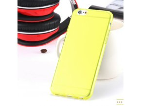 Silikonový kryt i6/6s clear - Thin yellow