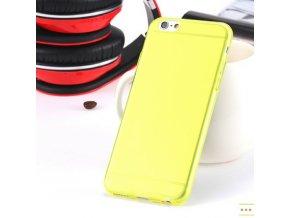 Silikonový kryt i6/6s clear - Thin yellow