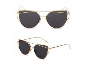 Sluneční brýle VINTAGE - Gold + gray