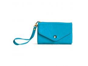 Dámská elegantní peněženka - modrá