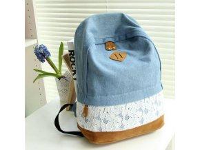 Dámský batoh DENIM - Modrý