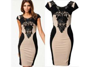 Elegantní dámské šaty s černou krajkou