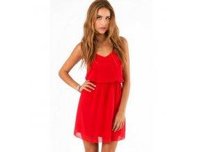 Červené šaty Nelly na ramínka