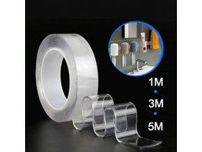 Znovupoužitelná oboustranná nano páska - průhledná