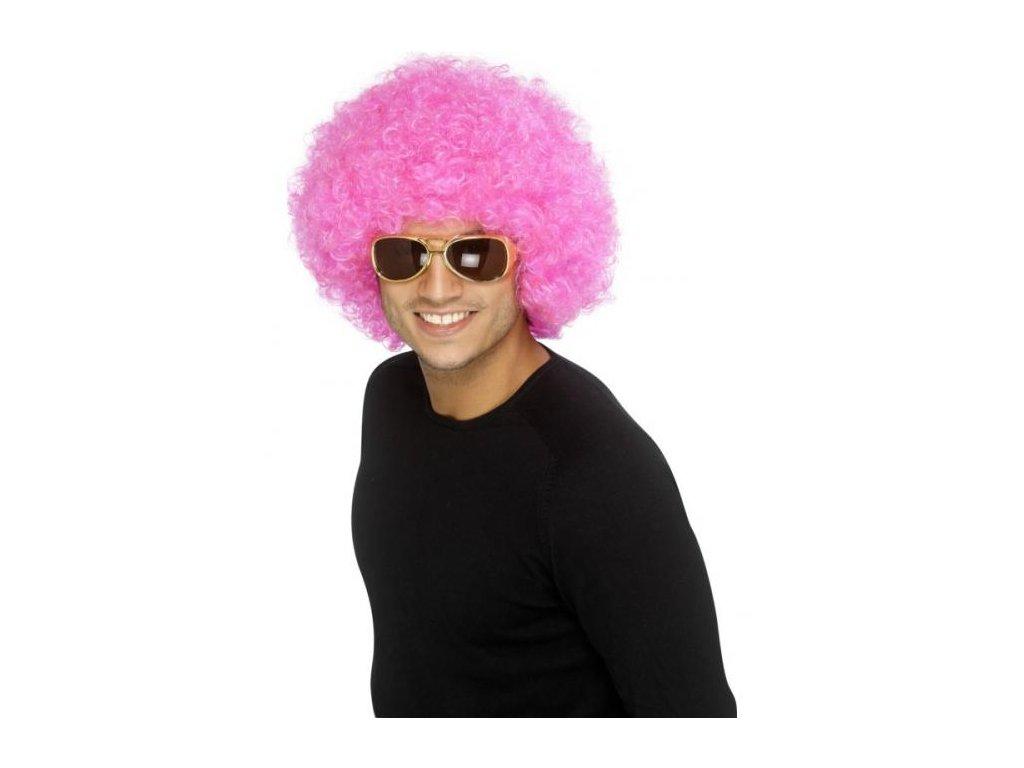 Paruka - Funky Afro - růžová