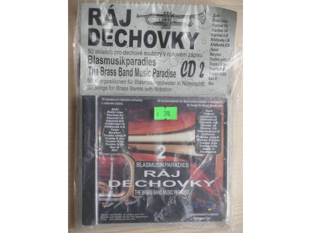 Ráj dechovky 2 - 50 skladeb pro dechové soubory v notovém zápisu