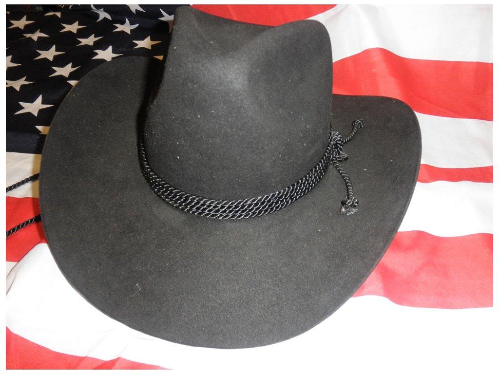 Klobouk westernový plstěný - černý